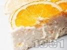 Рецепта Лесена и бърза домашна чийзкейк торта с цитрусови плодове (лимони и портокали), рикота (или извара) и цедено кисело мляко (с желатин, без печене)